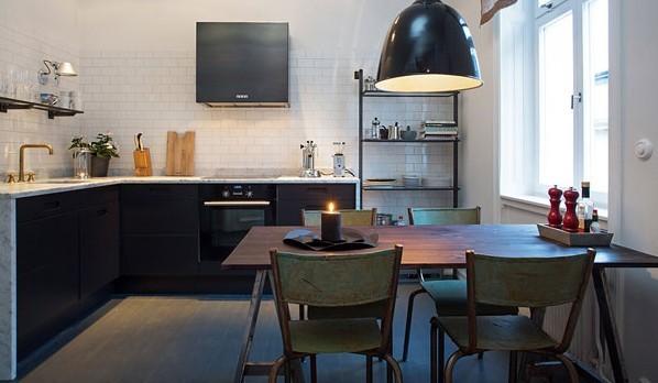 全包工业风格二居深度设计餐厅装修效果图片 装修美图 新浪装修家居