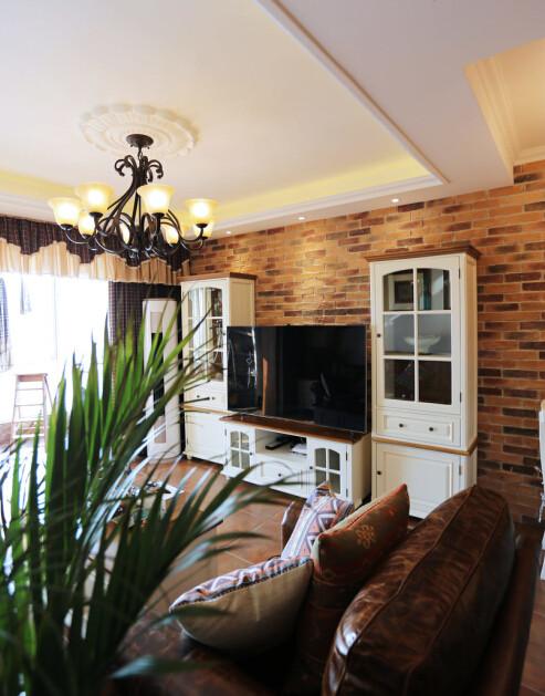 美式乡村三居处女座客厅装修效果图片 装修美图 新浪装修家居网看图高清图片