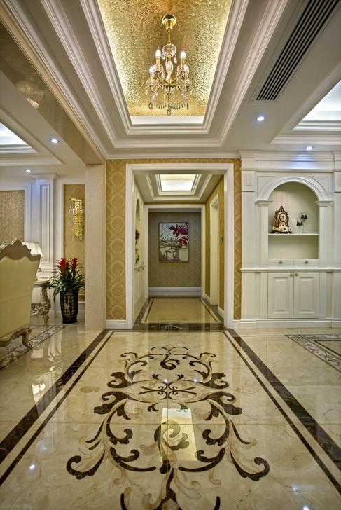 简约欧式四居室大平层白领80后小资客厅装修效果图片 装修美图 新浪