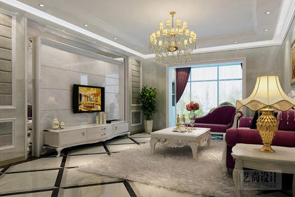 欧式三居白领样板间127平方客厅装修效果图片 装修美图 新浪装修家居