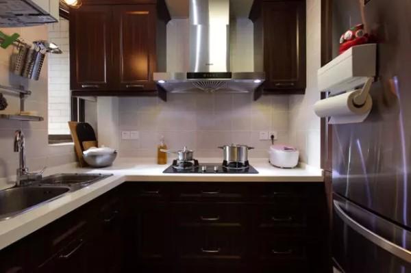 简约中式二居旧房改造厨房装修效果图片 装修美图 新浪装修家居网看